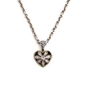 Andrea Candela Heart Diamond 18K Sterling Necklace